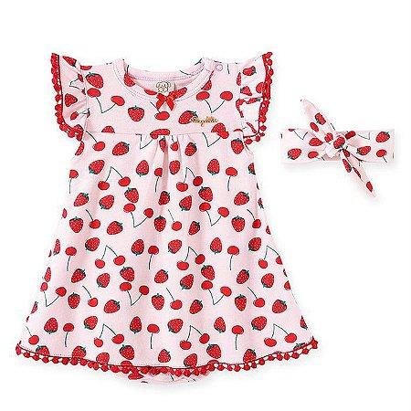 Vestido Infantil Feminino Moranguinho - Pingo Lelê