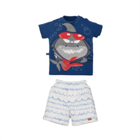 Conjunto Infantil Masculino Tubarão Augusto - Upi Uli