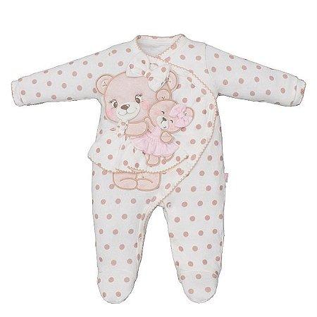 Macacão Infantil Feminino Mamãe Ursa - Upi Uli