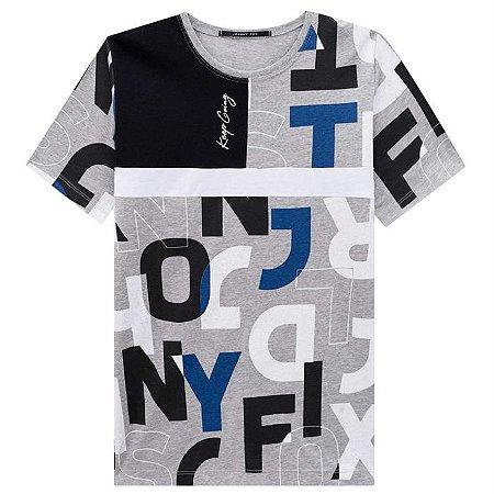 Camiseta Infantil Masculina Estampada com Recortes - Johnny Fox