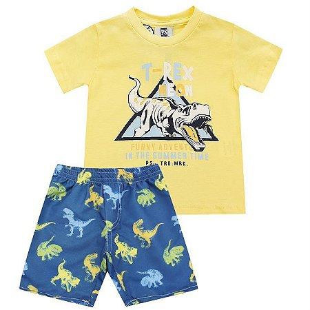 Conjunto Infantil Masculino Dino  -  Passagem Secreta
