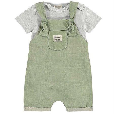 Jardineira Infantil Masculino Verde - Luc.Boo