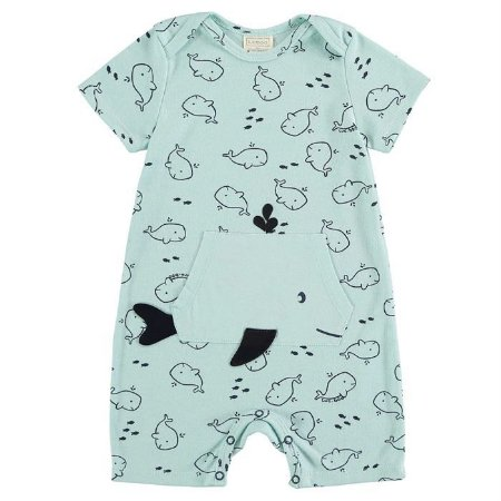 Macacão Infantil Masculino Baleia - Luc.Boo