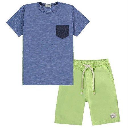 Conjunto Infantil Masculino Camiseta Neon - Luc.Boo