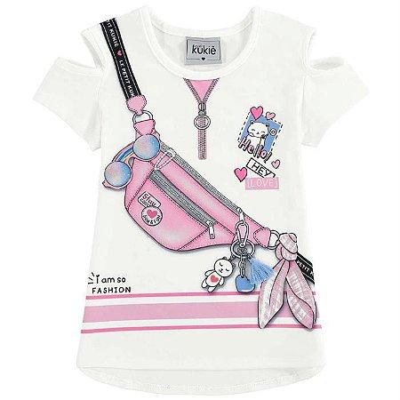 Blusa Infantil Feminino Pochete - Kukiê