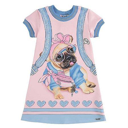 Vestido Infantil Feminino Dog Fashion - Kukiê