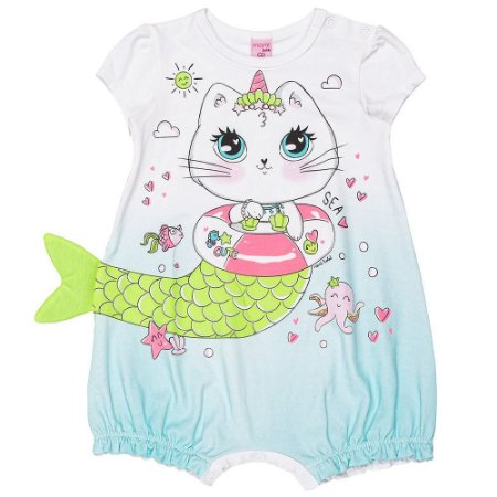 Macacão Infantil Feminino Gata Sereia - Momi