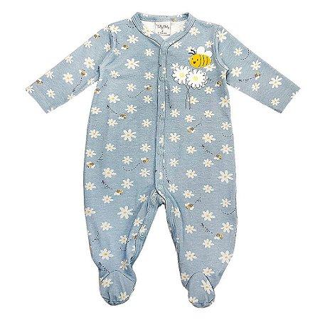 Macacão Infantil Feminino Longo Margaridas - Tilly Baby