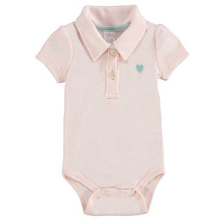 Body Infantil Feminino Polo Coração - Kukiê