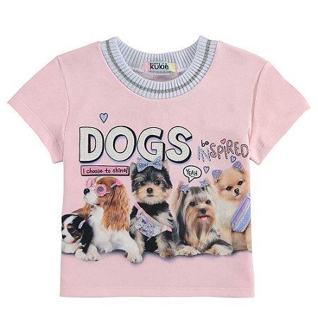 Blusa Infantil Feminino Dogs - Kukiê