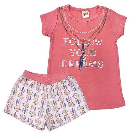 Pijama Malha Follow Your Dreams - Have Fun