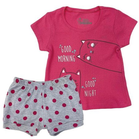 Pijama Malha Canelado Gatinha - Have Fun
