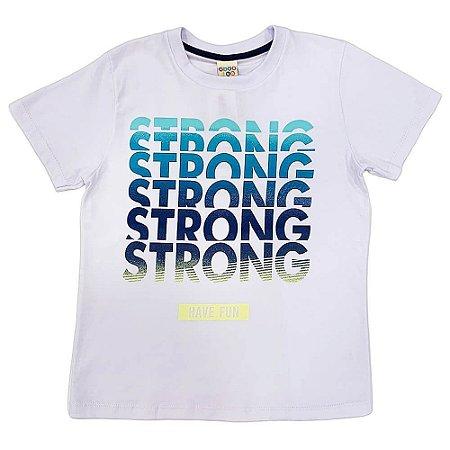 Camiseta Malha Silk Strong Branca- Have Fun