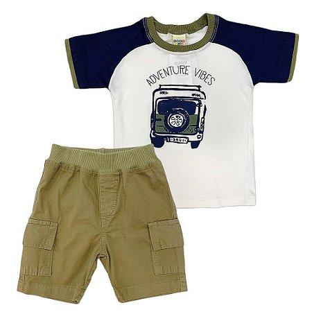 Conjunto Camiseta Jeep e Bermuda Sarja - Have Fun