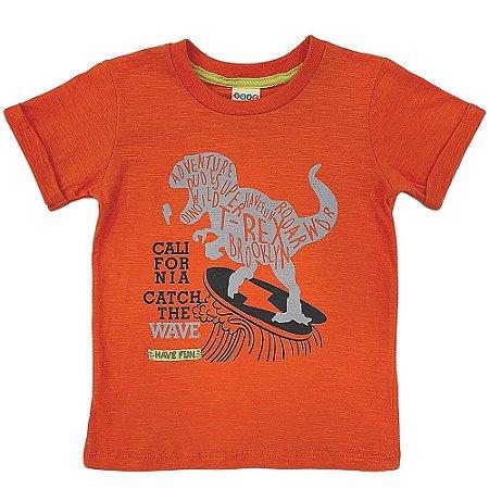 Camiseta Malha Dinossauro Skate - Have Fun