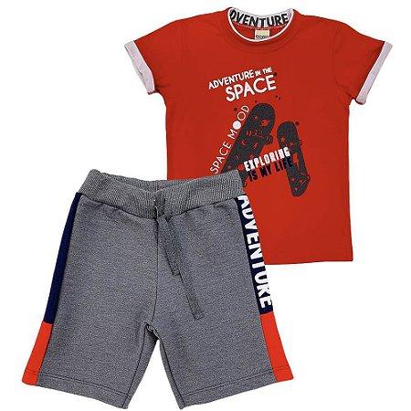 Conjunto Camiseta Space e Bermuda Moletom - Have Fun