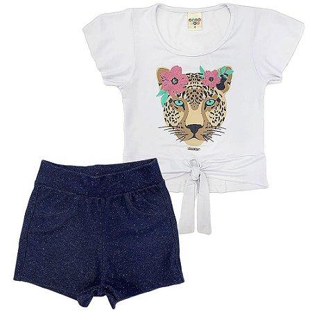 Conjunto Blusa e Shorts Oncinha - Have Fun