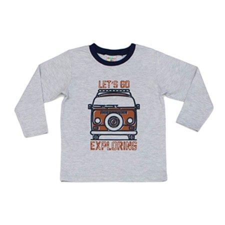 Camiseta Infantil Masculino Manga Longa Lest's Go Kombi - Have Fun