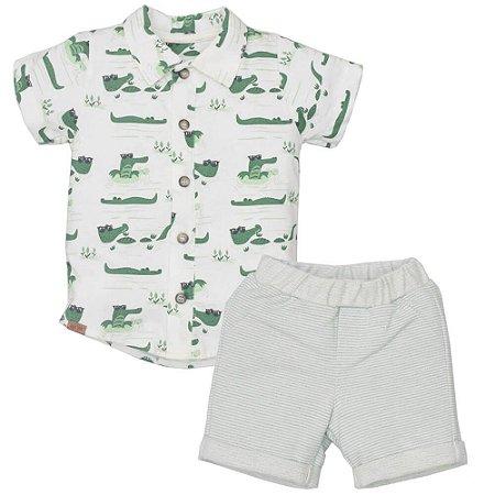 Conjunto Camisa e Bermuda Crocodilo - Upi Uli