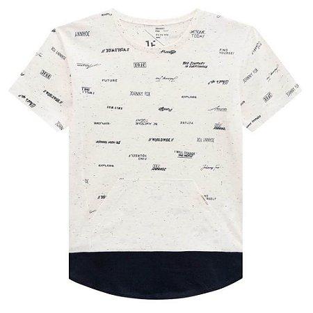 Camiseta Malha Botonê com Bolso - Johnny Fox
