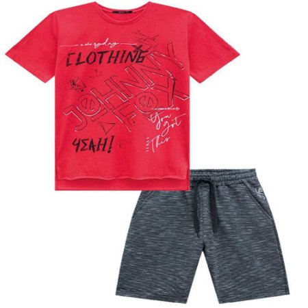 Conjunto Camiseta  e Bermuda Moletinho - Johnny Fox