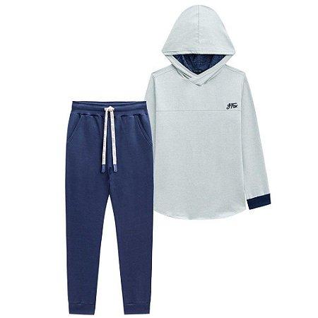 Conjunto Infantil Masculino Blusa de Capuz e Calça Cordão - Johnny Fox