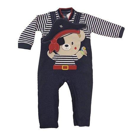 Macacão Infantil Menino Suedine Pirata - Upi Uli