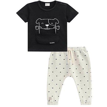 Conjunto Camiseta e Calça Saruel Moletinho - Luc.Boo