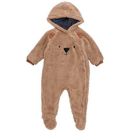 Macacão  Infantil Masculino Ursinho de Pelinho  - Luc.boo