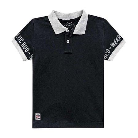 Camiseta Infantil Masculina Gola Pola Malha Elastano - Luc.Boo