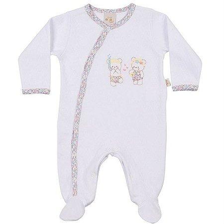 Macacão Longo Suedine com Friso Ursinhas - Anjos Baby