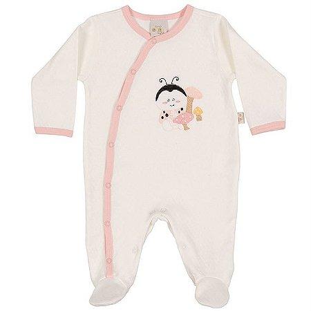 Macacão Longo Suedine com Friso Joaninhas - Anjos Baby
