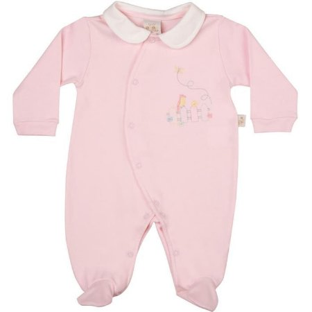 Macacão Longo Suedine Passarinhos - Anjos Baby