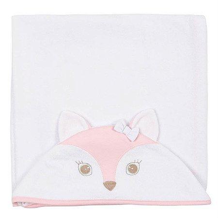 Toalha de Banho Capuz Safari Rosa - Anjos Baby