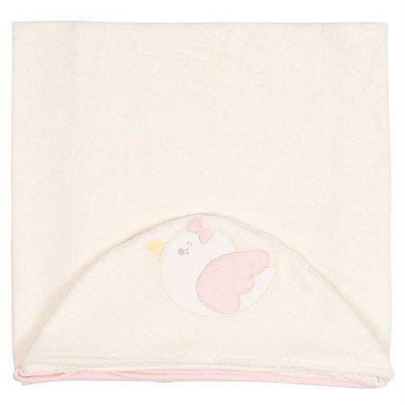 Toalha de Banho Capuz Passarinhos - Anjos Baby