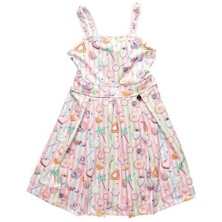 Vestido Alça com Perolas Candy - Kiki Xodó