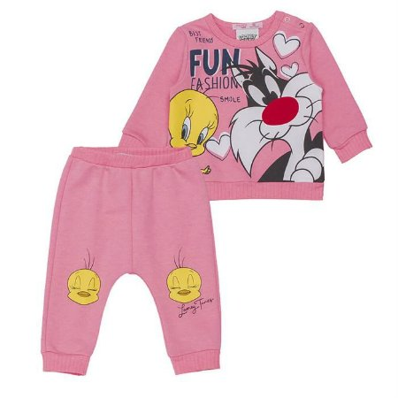 Conjunto Infantil Feminino Piu-Piu e Frajola - Momi