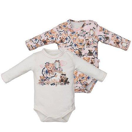 Kit Body Infantil Feminino Ursinha - Upi Uli