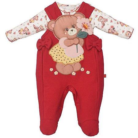 Macacão Infantil Feminino Ursa Sarah - Upi Uli