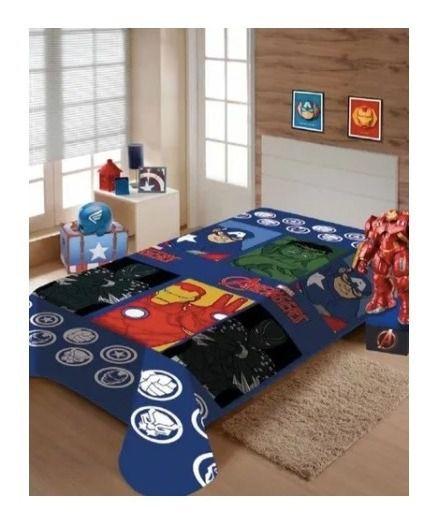 Manta Cobertor Microfibra Soft Marvel Avengers 1,50 X 2,00m