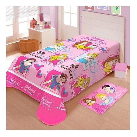 Cobertor Manta Infantil Jolitex Soft Princesas Amigas/rosa