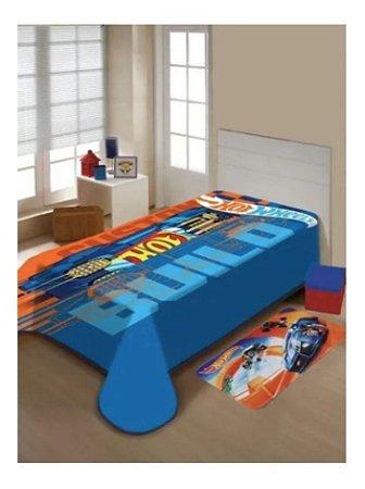 Cobertor Infantil Solteiro Jolitex Raschel Plus Hot Wheels