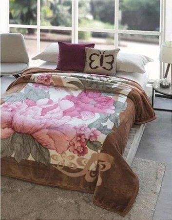 Cobertor Jolitex Ternille Dyuri Casal toque macio Florido