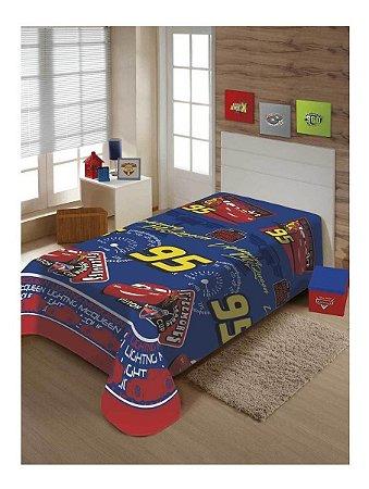 Cobertor Manta Jolitex Macio Soft Solteiro Carros Piston Cup