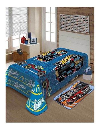 Cobertor Manta Soft Macio Licenciado Solteiro Hot Wheels