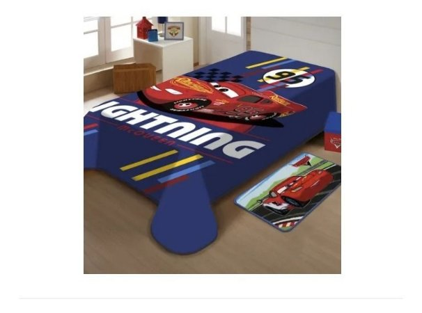 Cobertor Solteiro Carros Raschel Disney 1,50x2,00 Macio