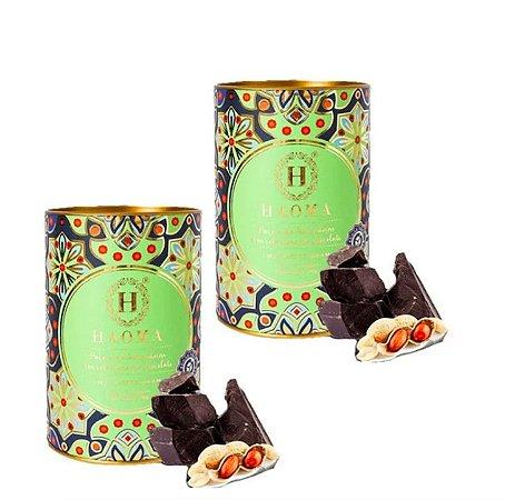 Paçoca Haoma KIT 2unidades Chocolate Belga Zero Açúcar 200g