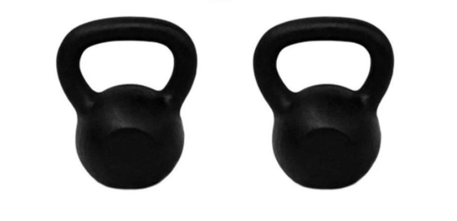 Ketlebel 14+14 Kgs Par Halter Anilhas Pesos Musculação