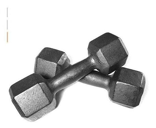 Halter Par 5 Kgs Pesos Musculação Anilhas Dumbell Fitness
