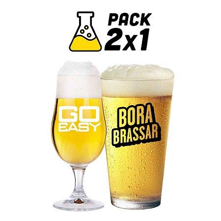 Kit Cerveja 2x1 Cerveja Fácil Go Easy e Mosturando Bora Brassar - 20 litros